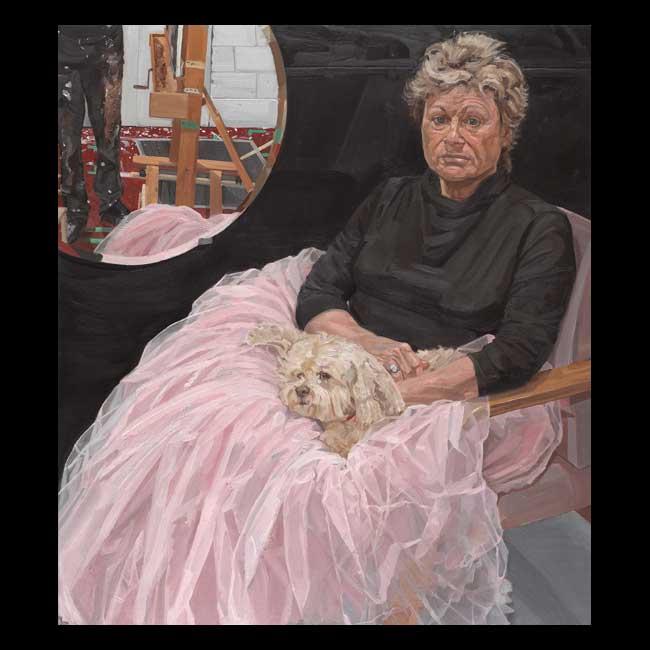 Art Dealer and Dog by Jesse Garbe