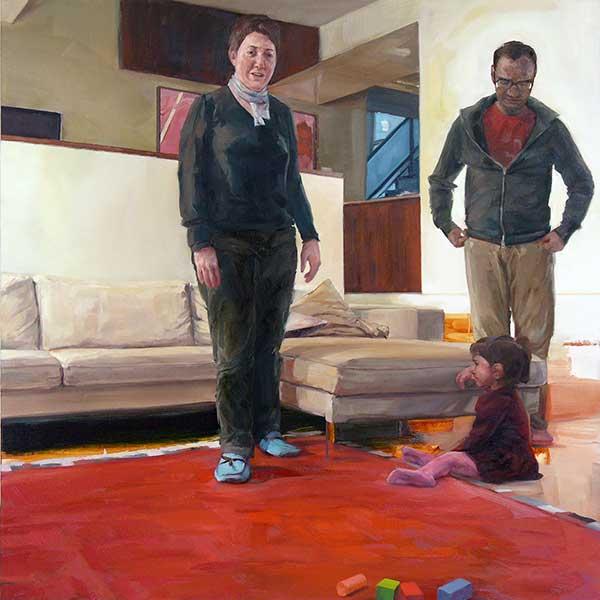 Erin, Subrata and Maya by Matthew Schofield