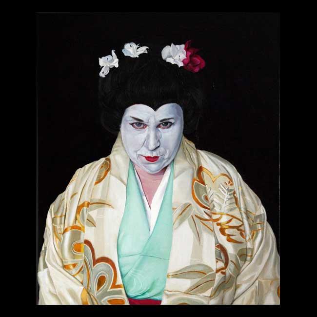 Self-portrait as Geisha by Christine Cousineau