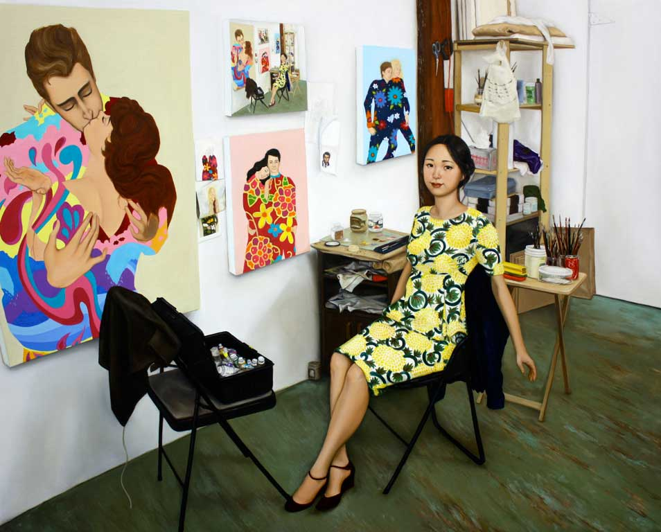 Coda: Self-portrait in the studio by Roselina Hung