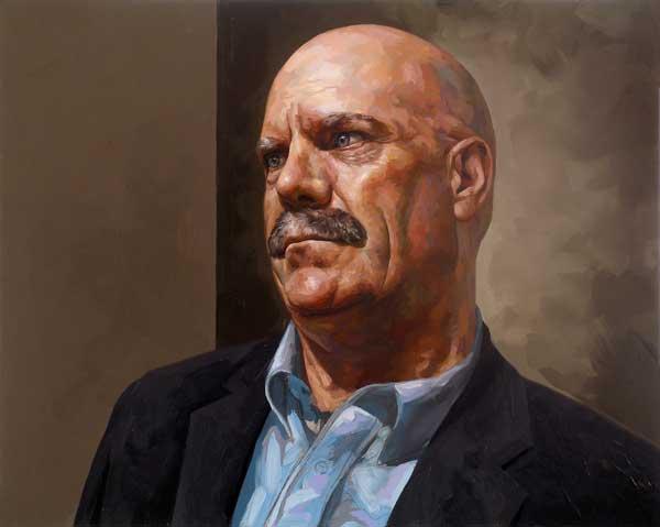 Portrait of David Roman by Paul Robert Turner